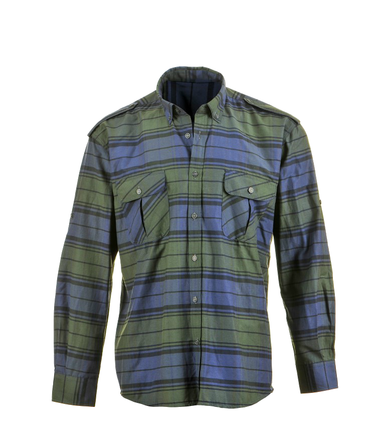 Summer Shirts Green-Blue Long Sleeve