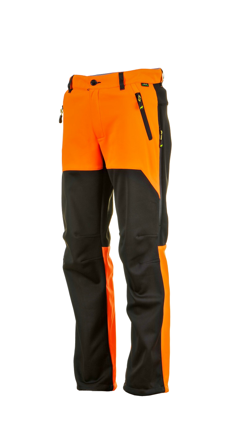 1015 Model Softshell Pants Black Orange