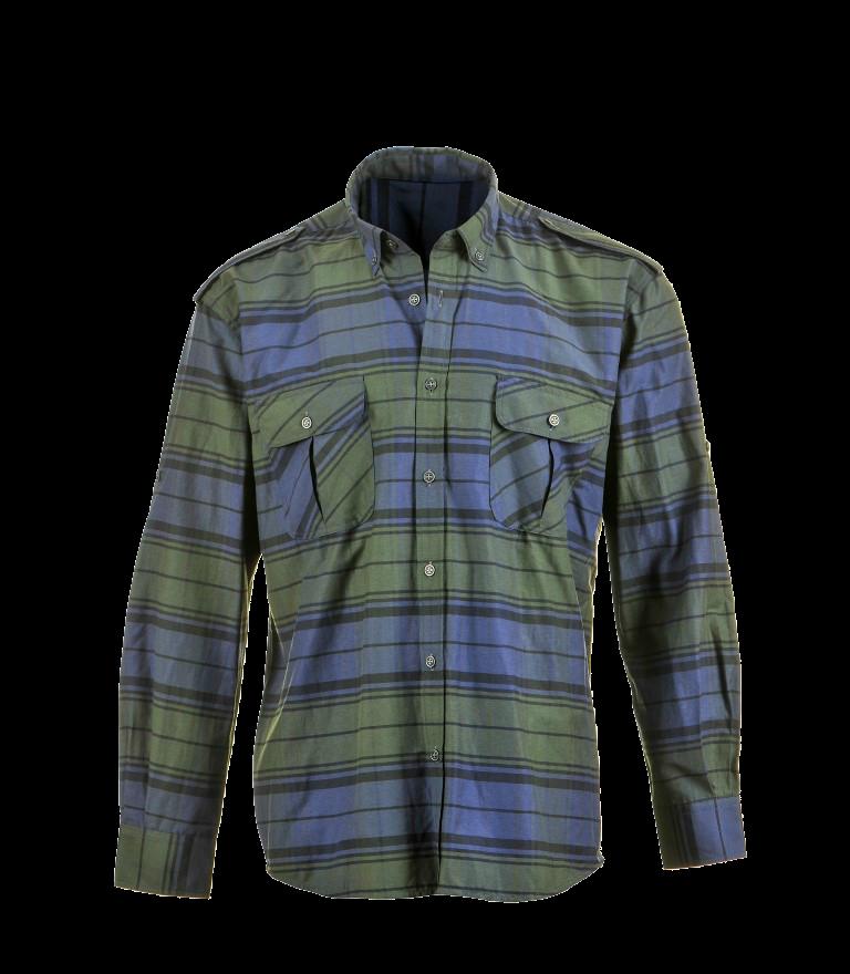 Summer Shirts Green-Blue Long Sleeve