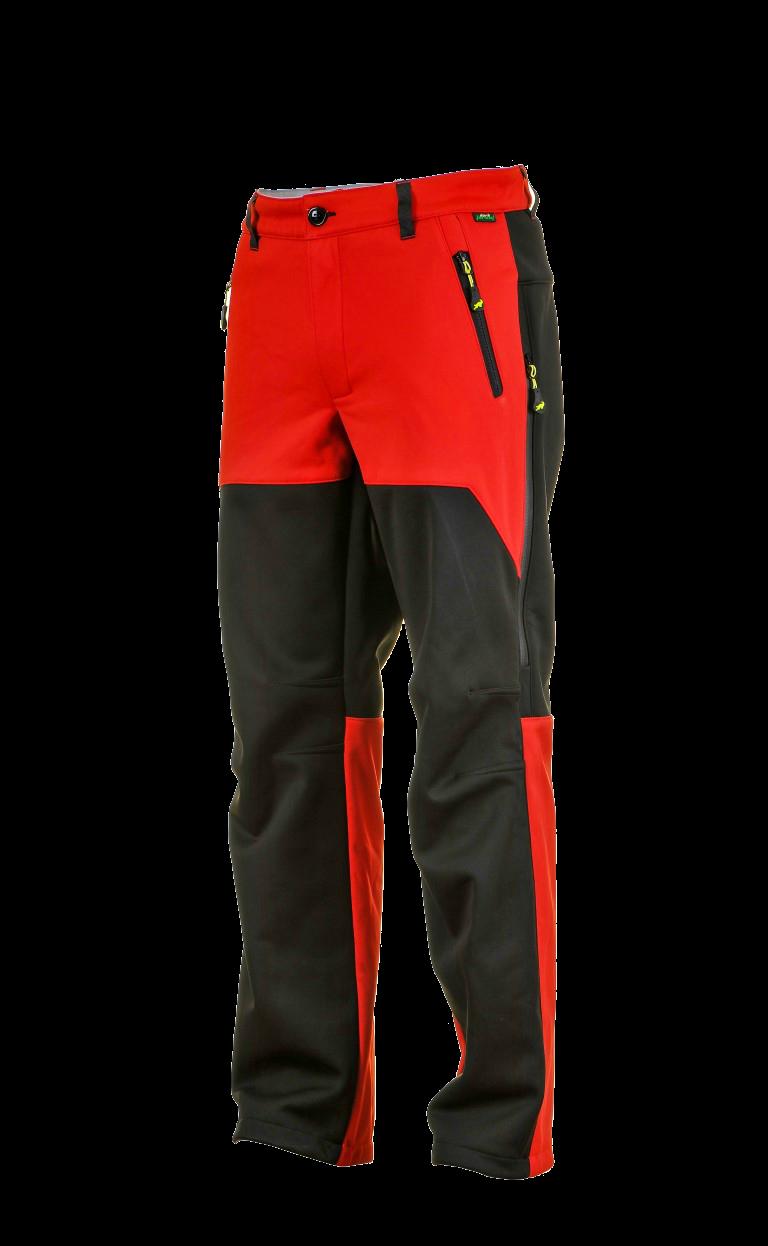 1015 Model Softshell Pants Black Red