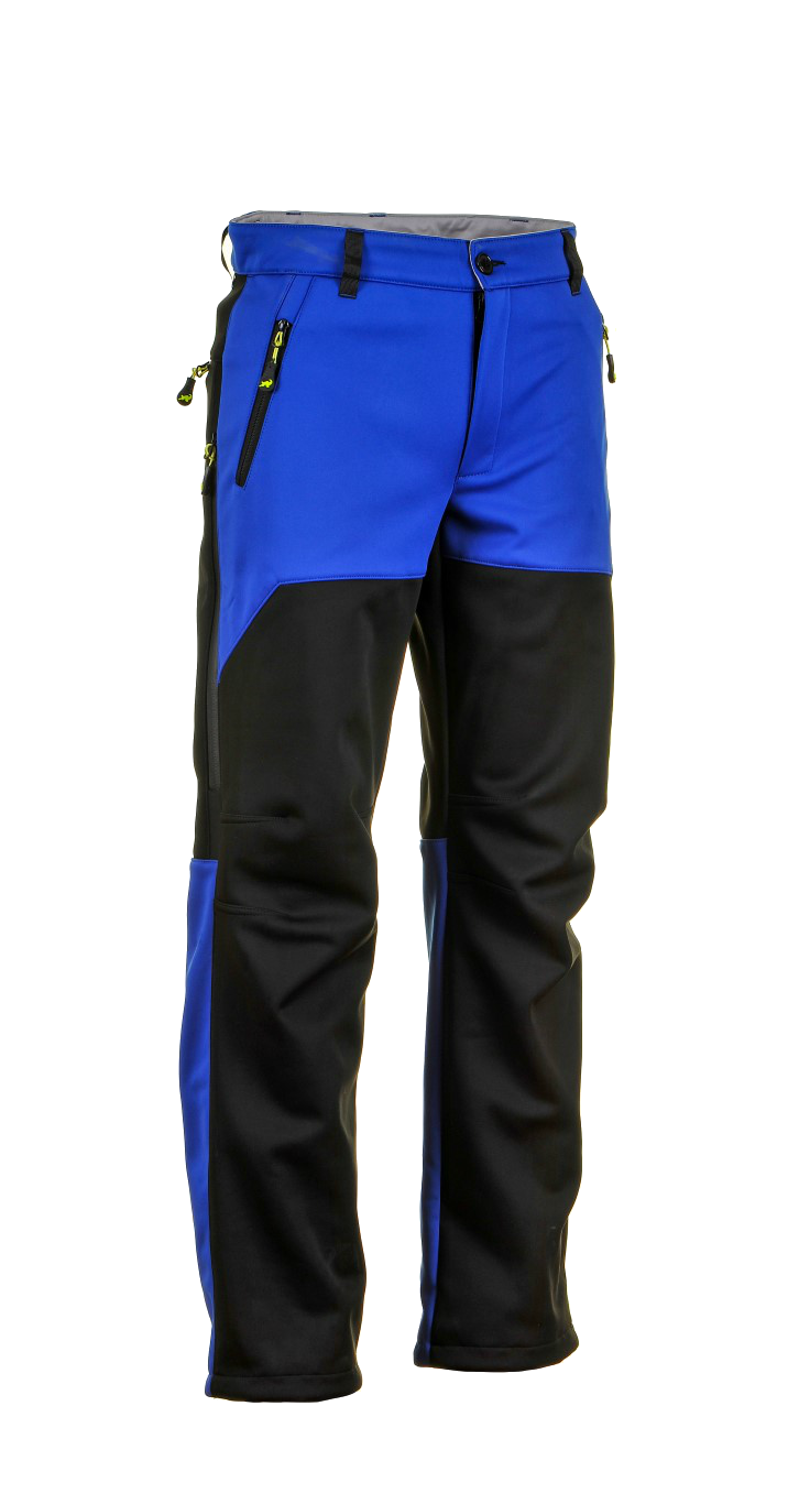 1015 Model Softshell Pants Black Sax Blue